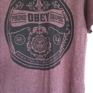 OBEY Ladies  Phono Graphic T- Shirt